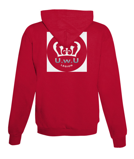 Uwu Legion Motivation Fire Red T-Shirt Back