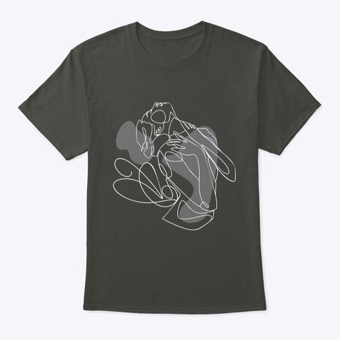 Daring Woman Line Art  Smoke Gray T-Shirt Front