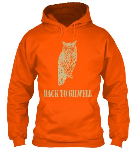 Back To Gilwell Safety Orange Sweatshirt Front
