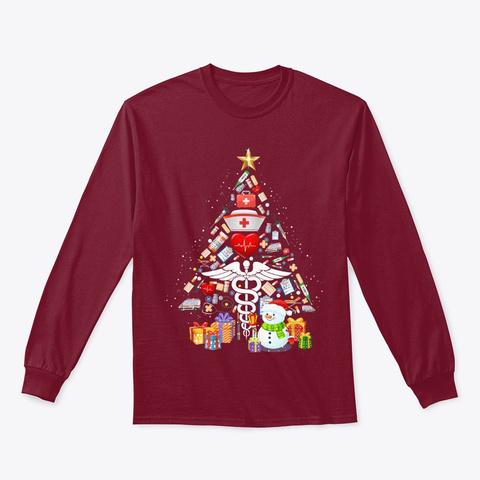 Medical Tools Xmas Tree Christmas Gift Cardinal Red T-Shirt Front