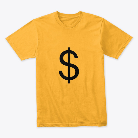 Rich Trillionaire Club Gold T-Shirt Front