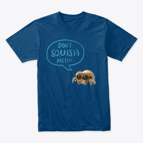 Lucas The Spider Don't Squish Me (Blue) Cool Blue T-Shirt Front