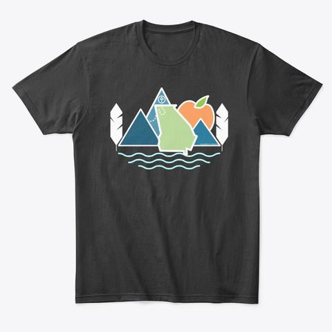 Appalachian Trail  Georgia   Graphic Black T-Shirt Front