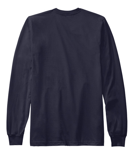 Power To The Girls! Long Sleeves Navy Long Sleeve T-Shirt Back