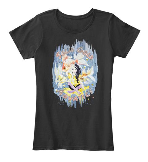 Solid Gold Aquatics Goldfish Guru Merch Black T-Shirt Front