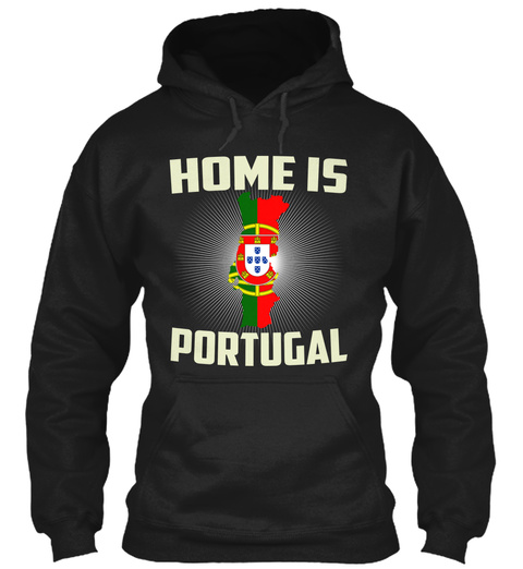 Home Is Portugal Black T-Shirt Front
