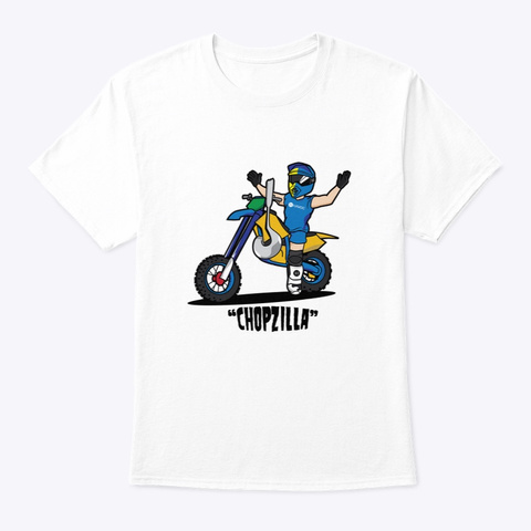 Chopzilla Tee White T-Shirt Front