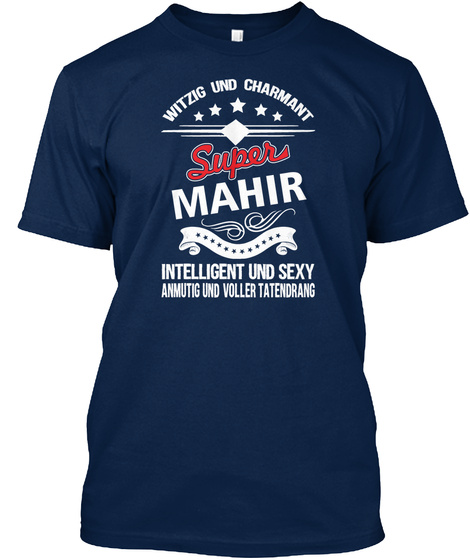 Witzig Und Charmant Mahir Navy T-Shirt Front