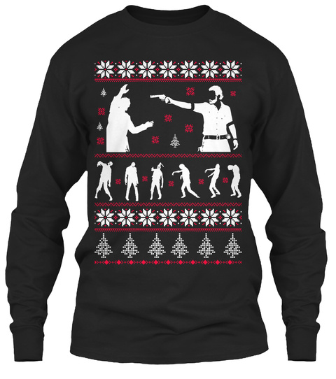 Zombie Christmas Sweater.Zombies Christmas Sweater Long Tees