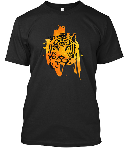 Tiger Stain Black T-Shirt Front