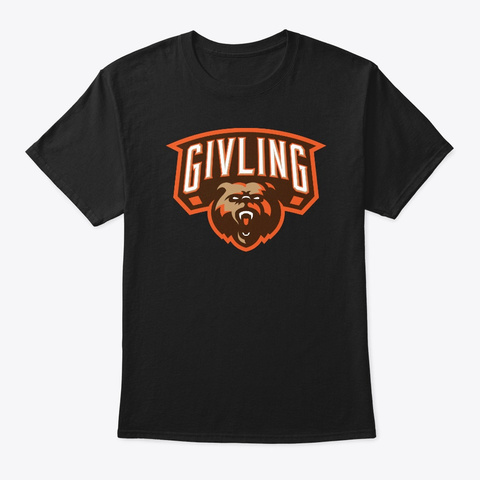 Givling Fire Black T-Shirt Front