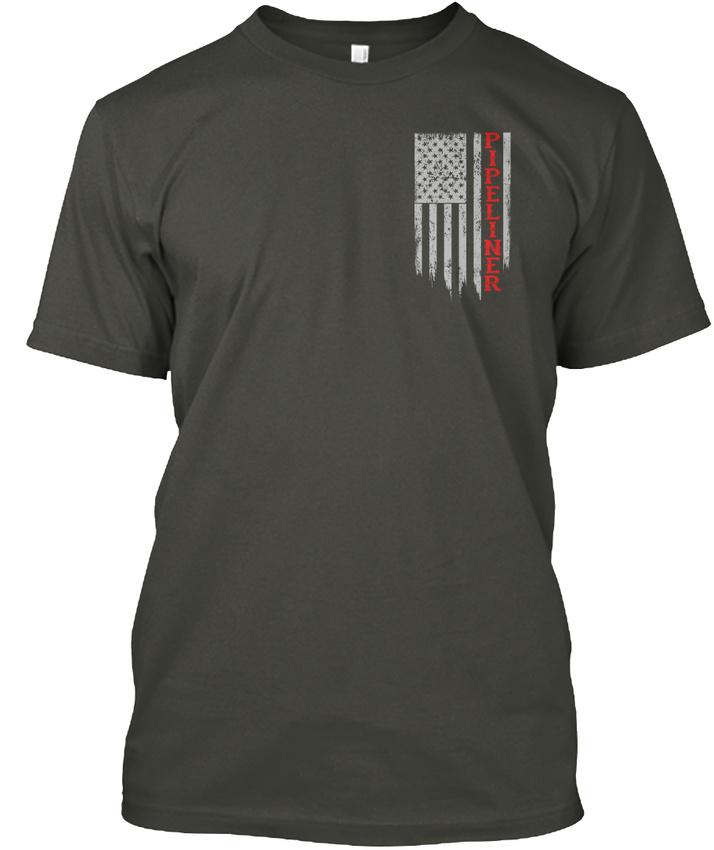 Pipeliner-Us-Flag-Hanes-Tagless-Tee-T-Shirt thumbnail 14