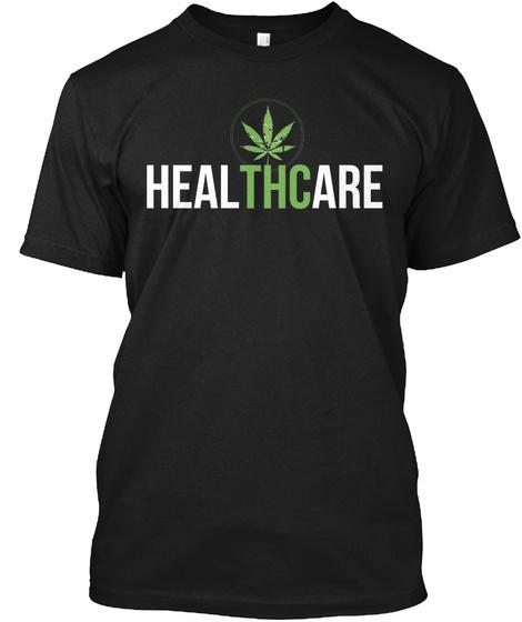 Healthcare  Black T-Shirt Front