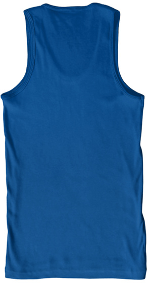 Unisex Sharky Squad Tank Top  Royal Tank Top Back