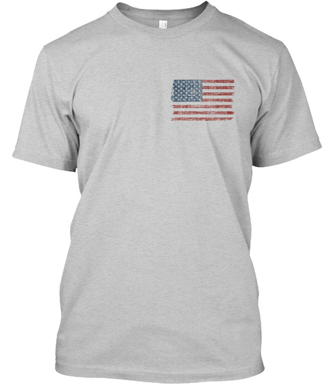 I Love America Light Steel T-Shirt Front