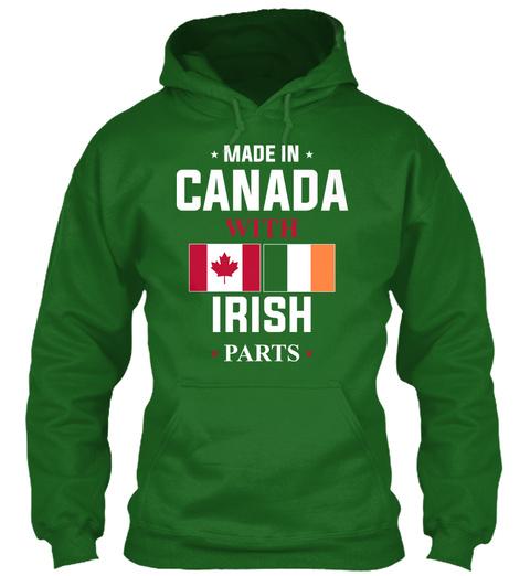Made In Canada With Irish Parts Irish Green Sweatshirt Front