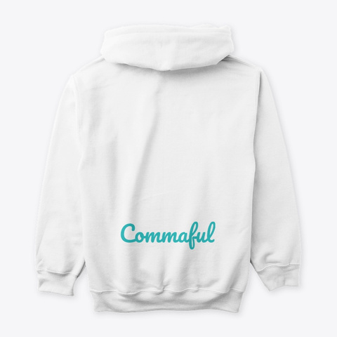 Commaful Light Hoodies White T-Shirt Back