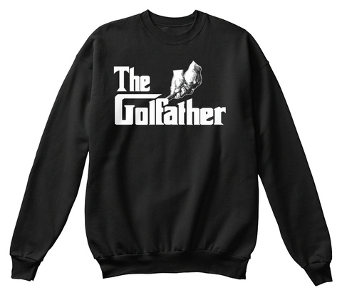 The Golfather Black Camiseta Front