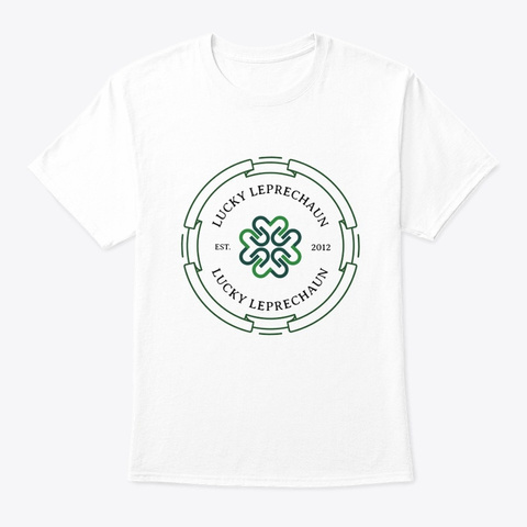 Lucky Leprechaun Classic Pub T Shirt White T-Shirt Front