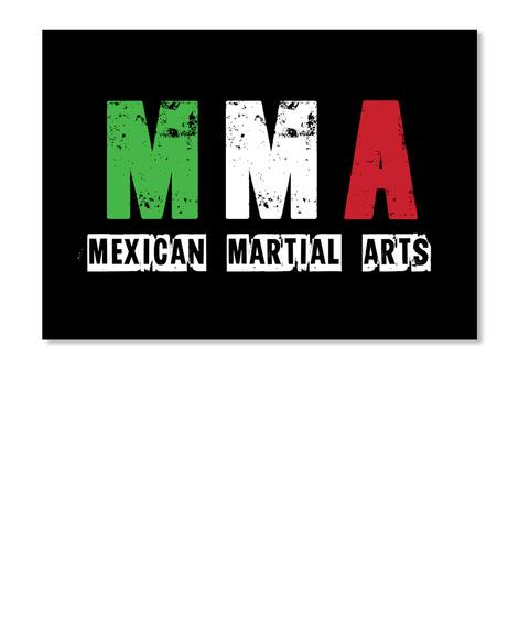 M M A Mexican Martial Arts Black T-Shirt Front