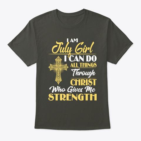 July Girl I Can Do All Things Shirt Smoke Gray T-Shirt Front