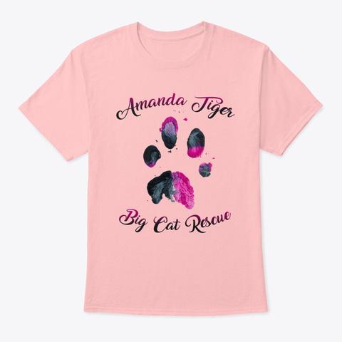 Amanda Tiger Paw Print Pale Pink T-Shirt Front