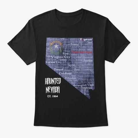 Haunted Nevada Black T-Shirt Front