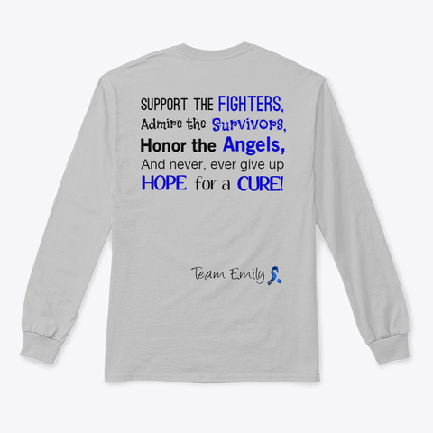 Histiocytosis Awareness Sport Grey T-Shirt Back