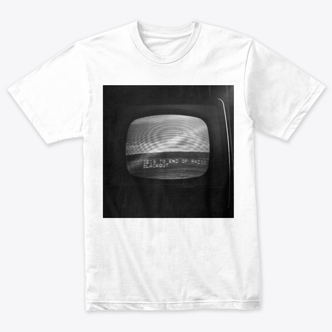 Radio Blackout Heather White T-Shirt Front