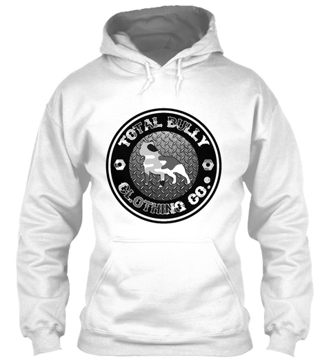 Total Bully    Shade Camo Logo Hoodie White T-Shirt Front