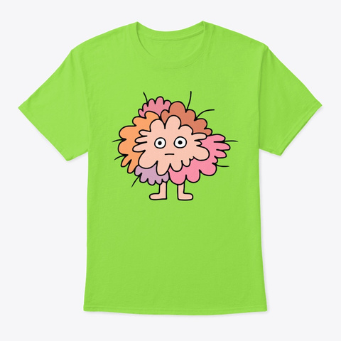 Dust Bunny   Cute Cartoon Lime T-Shirt Front
