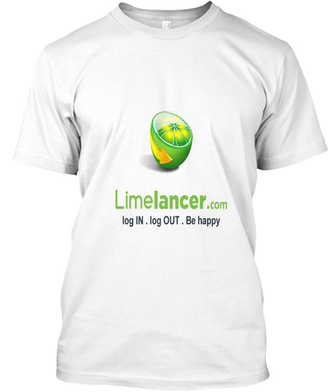 Limelancer White T-Shirt Front
