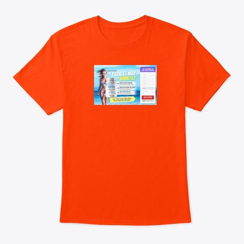 Nutriverse Keto Reviews Orange T-Shirt Front