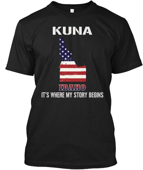 Kuna Id   Story Begins Black T-Shirt Front
