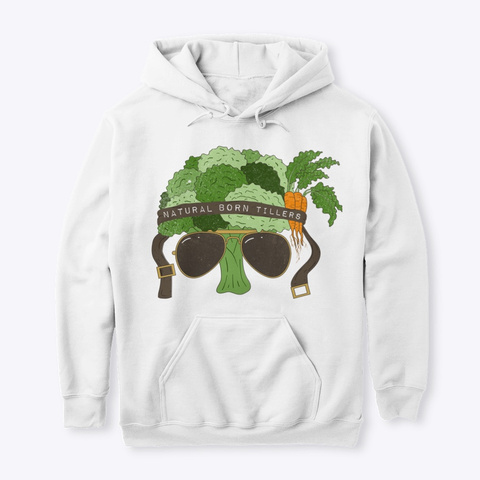 General Broccoli White T-Shirt Front
