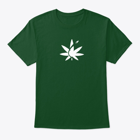Cannabis Space Coast Deep Forest T-Shirt Front