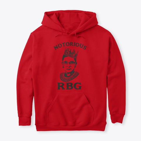Notorious Rbg Hoodie And Tee Red T-Shirt Front