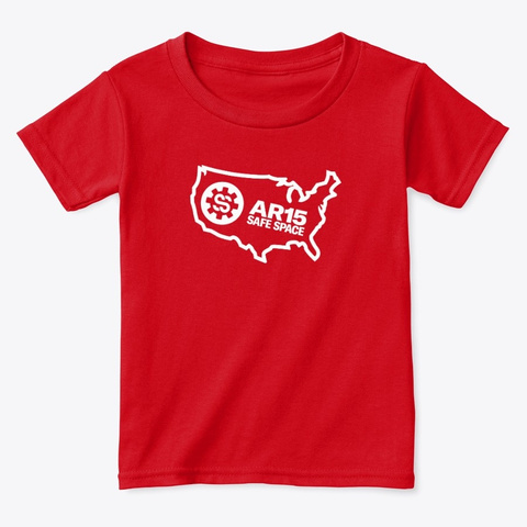 Ar15 Safe Space Usa Logo Red  T-Shirt Front