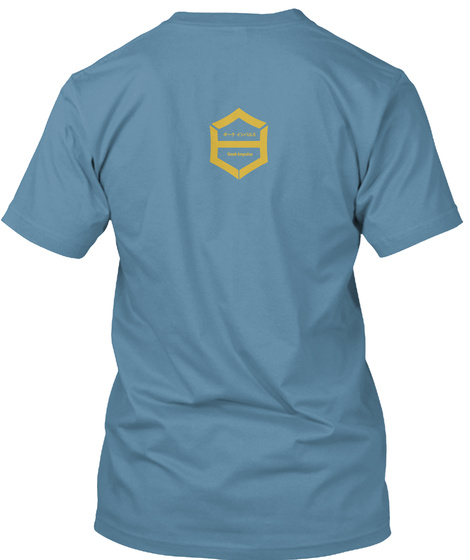 Otaku  Its Awesome Being A Geek Steel Blue T-Shirt Back