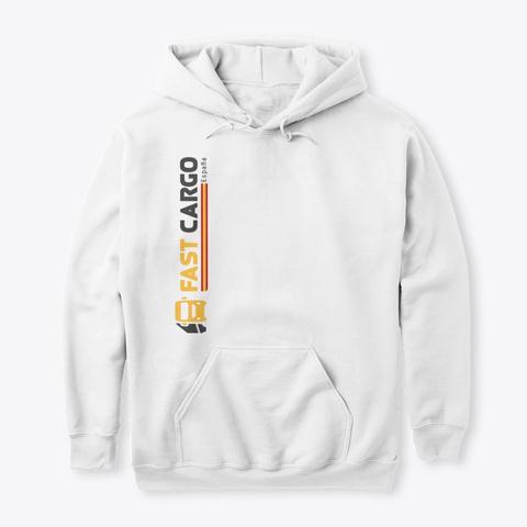 Fast Cargo Esp   Hoodie [White] White T-Shirt Front