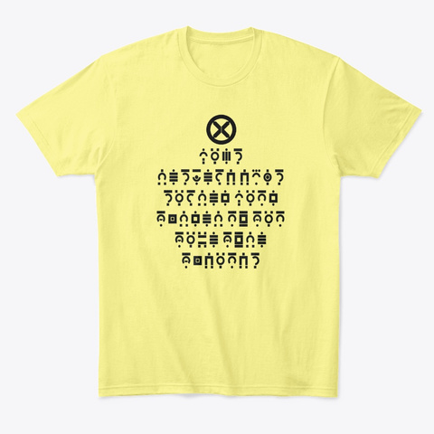 Krakoan Laws Tee Lemon Yellow  T-Shirt Front