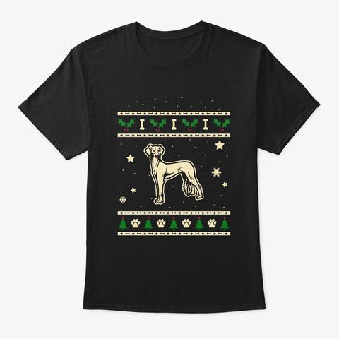 Christmas Mudhol Hound Gift Black T-Shirt Front