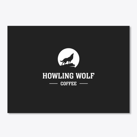 Howling Wolf Coffee Sticker Black Camiseta Front