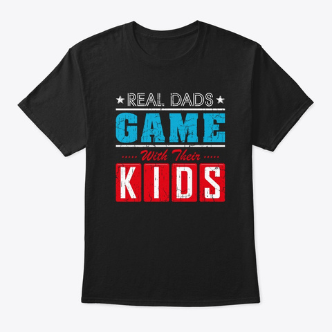 Gaming Fathers Day Gamer Dad Shirt Gift  Black T-Shirt Front
