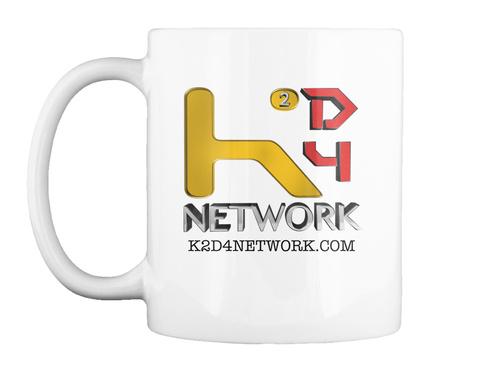 K2 D4 Network K2 D4 Network.Com White T-Shirt Front