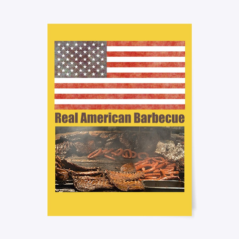 Real American Barbecue Yellow T-Shirt Front
