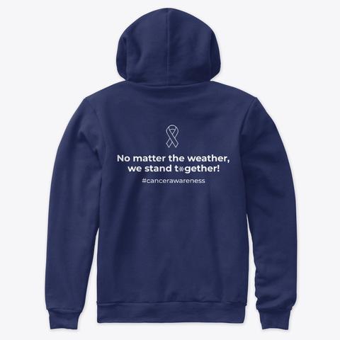 Pinebush Relay For Life Sweatshirt Navy T-Shirt Back