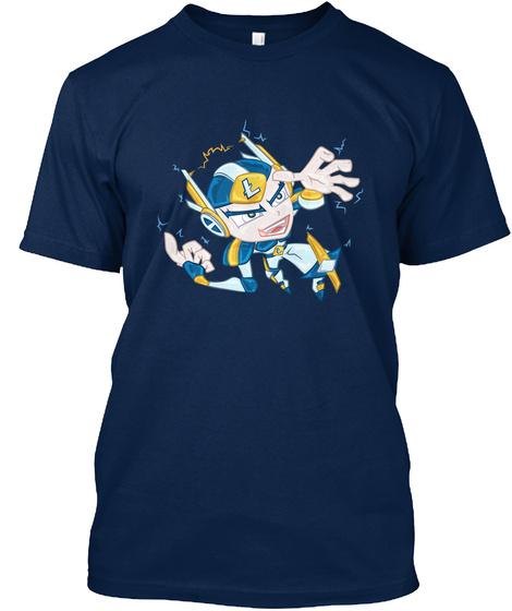 Litecoin Fanboy Chibi Character Navy T-Shirt Front