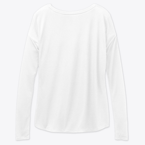 Wine And Chick Flicks  White Long Sleeve T-Shirt Back