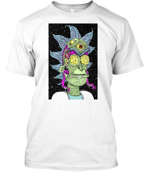 Monster Rick T Shirt White T-Shirt Front